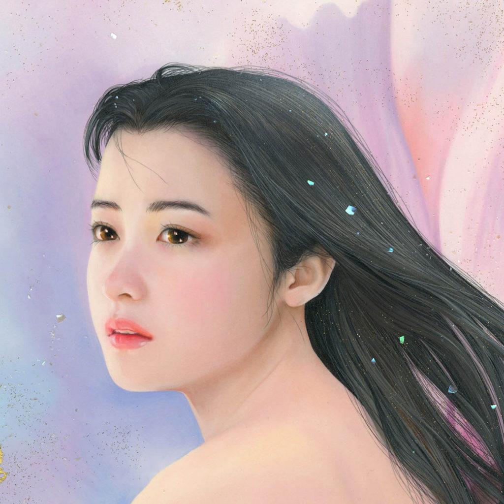 油彩 秋桜